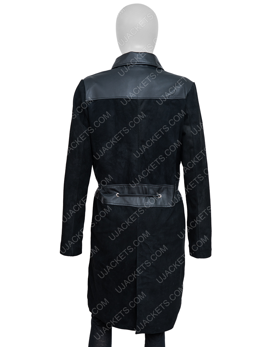 How To Get Away With Murder S06 Viola Davis Suede Leather Coat