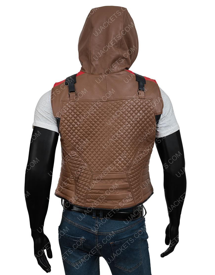 Jason Todd Gotham Knights Red Hood Brown Vest