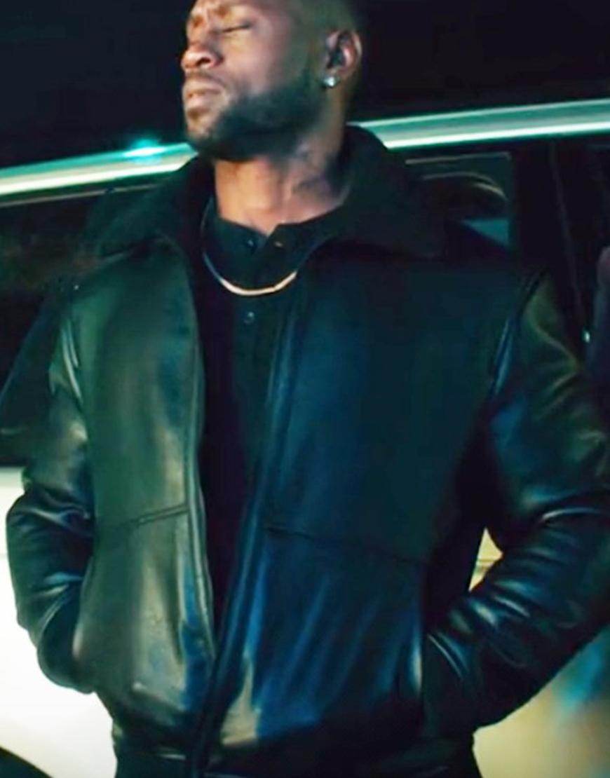 Johnson 2021 Omar Johnson Black Leather Jacket
