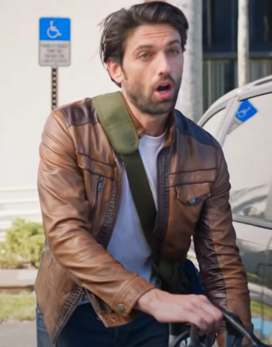 Love Map 2021 Reed Favero Brown Leather Jacket