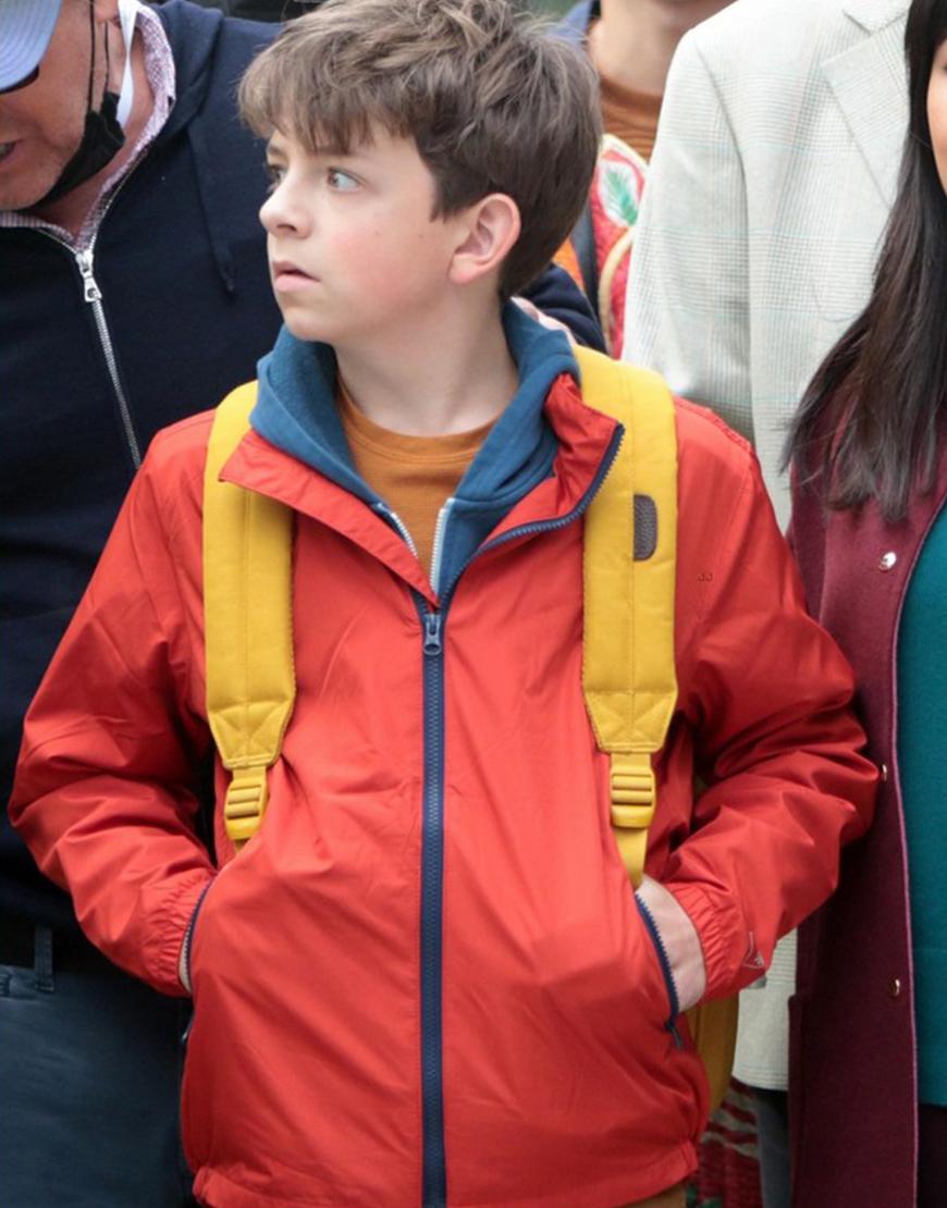 Lyle, Lyle, Crocodile 2022 Winslow Fegley Orange Hooded Jacket