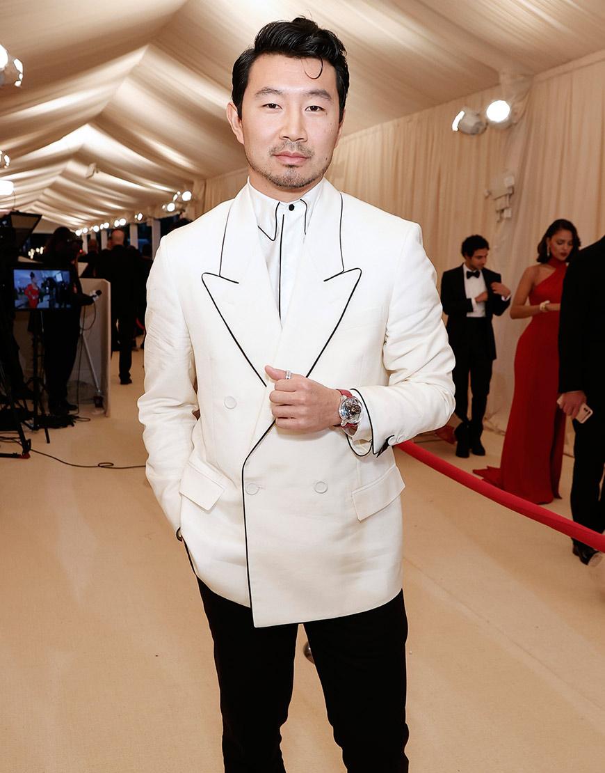 Met Gala 2021 Simu Liu White Coat