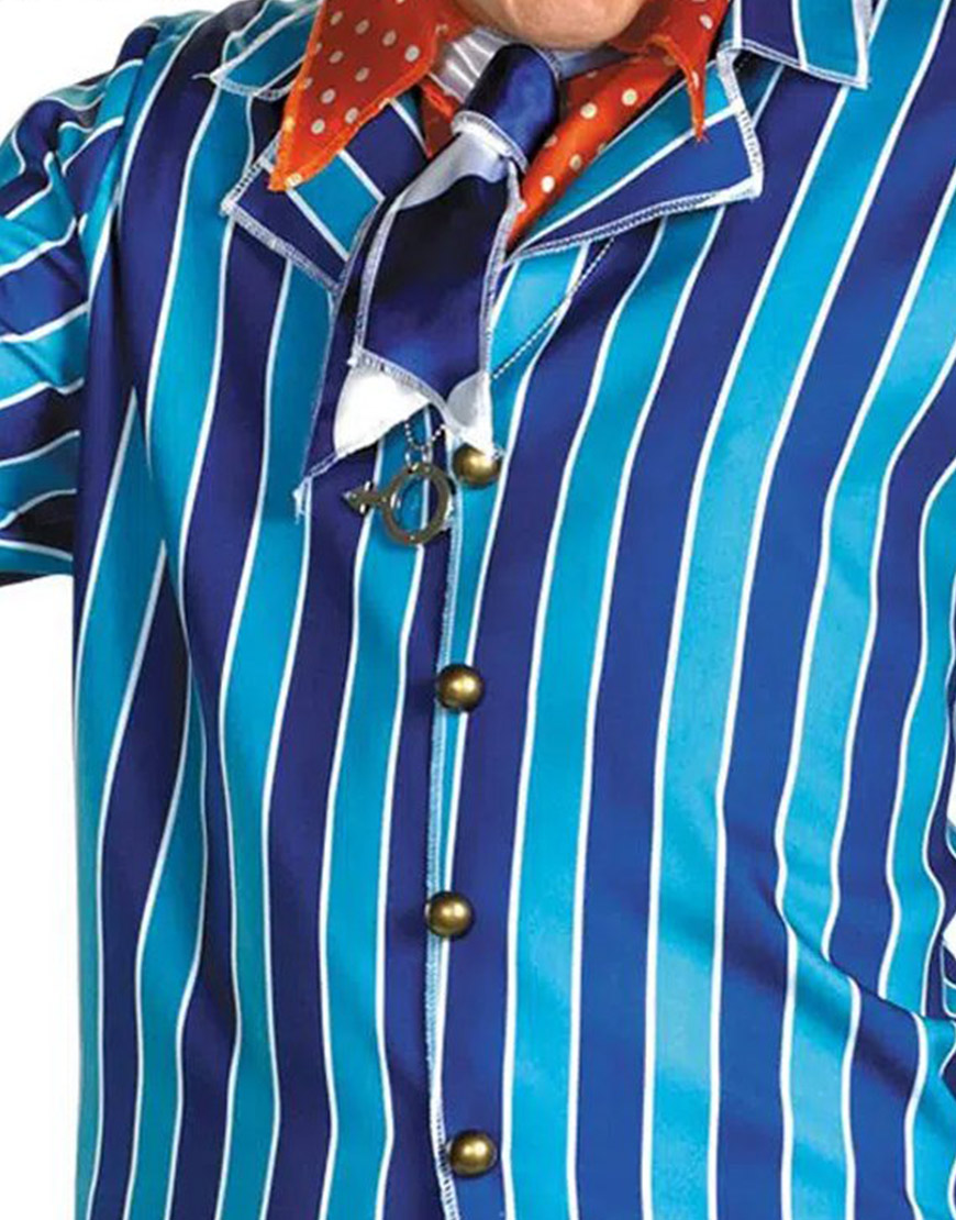 Mike Myers Austin Power Pinstripe Blue Suit For Men
