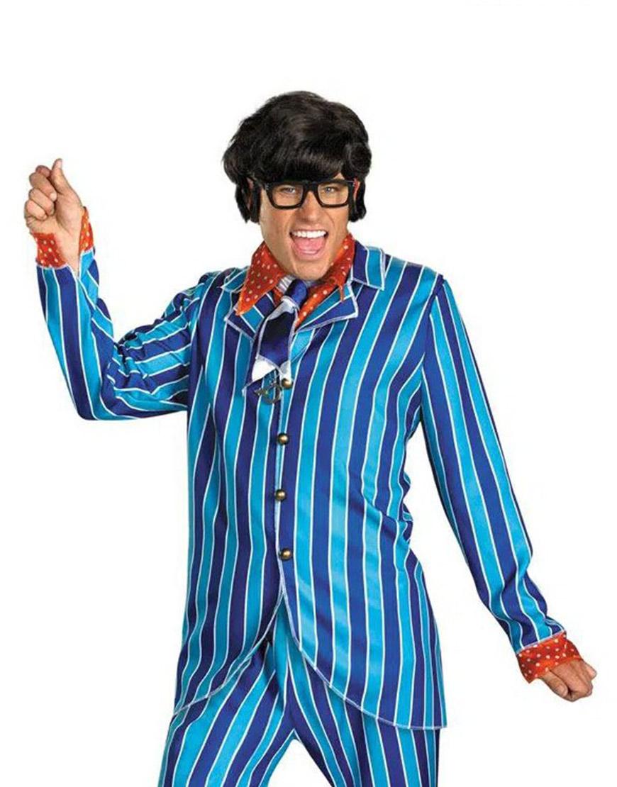 Mike Myers Austin Power Pinstripe Blue Suit