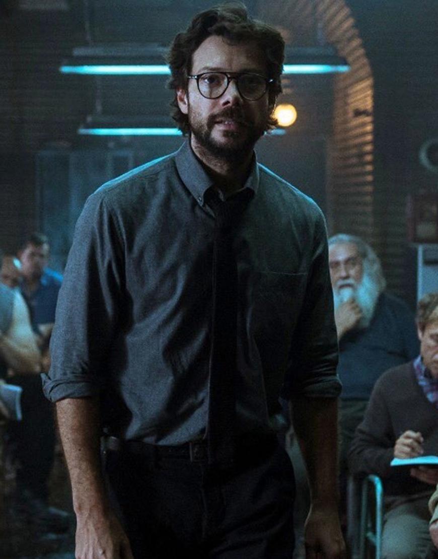 Money Heist Professor Tie And Shirt