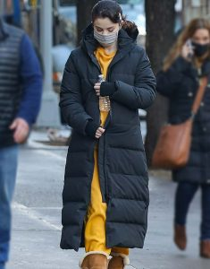Only Murders In The Building Selena Gomez Puffer Ling Coat