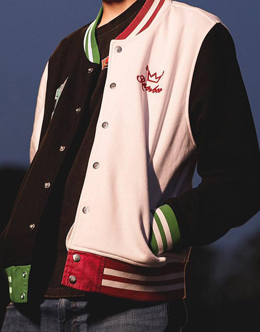 Ranboo Multi-Color Letterman Varsity Jacket
