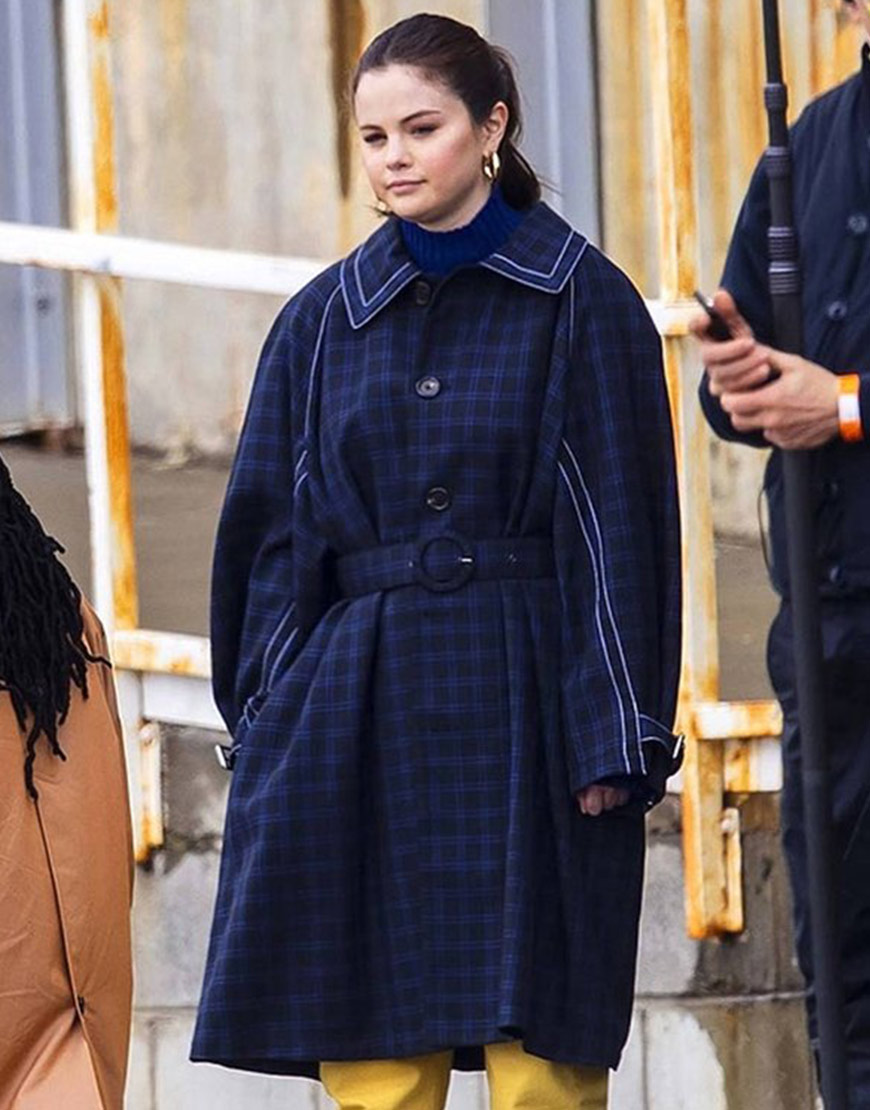 Selena Gomez TV Series Only Murders in the Building Blue Trench Coat