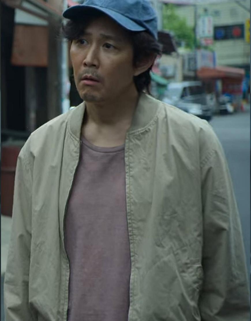 Seong Gi-hun TV-Series Squid Game 2021 Jung Jae Lee Bomber Jacket