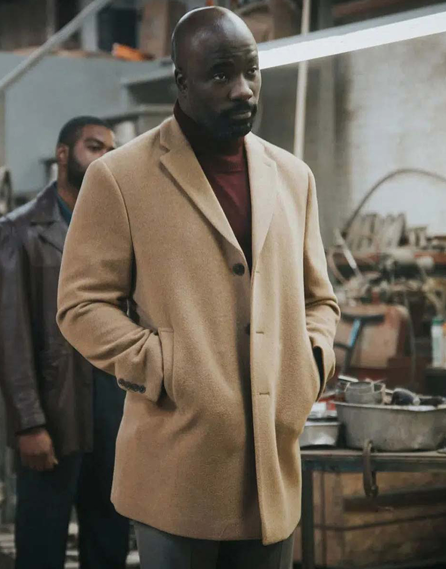 South Of Heaven 2021 Mike Colter Beige Coat