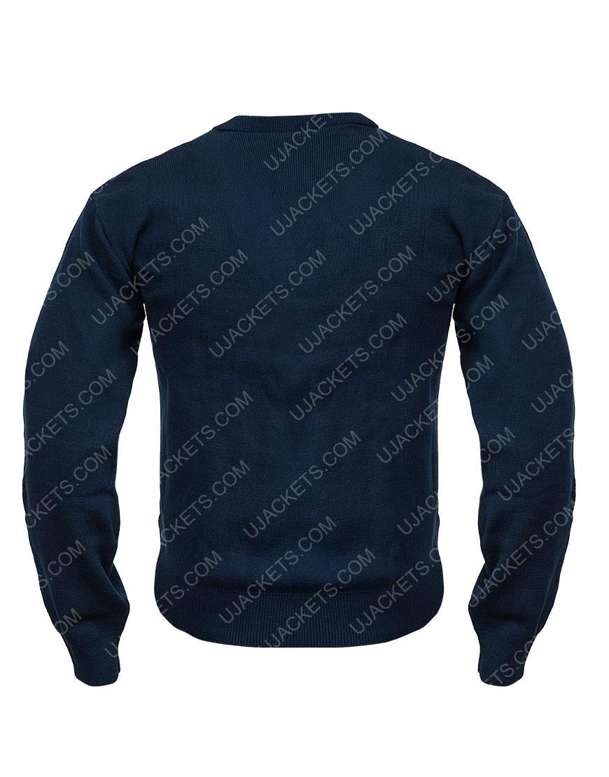 Ted Lasso S02 Blue Woolen Sweater For Men