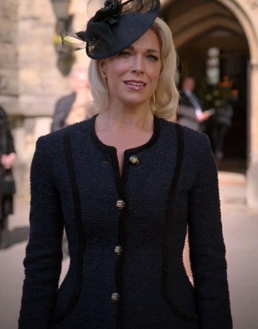 Ted Lasso S02 Hannah Waddingham Black Coat