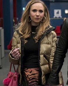 Ted Lasso S02 Juno Temple Gold Puffer Jacket