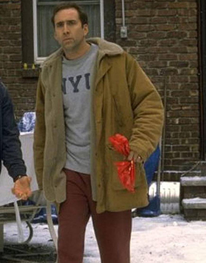 The Family Man Nicolas Cage Brown Coat