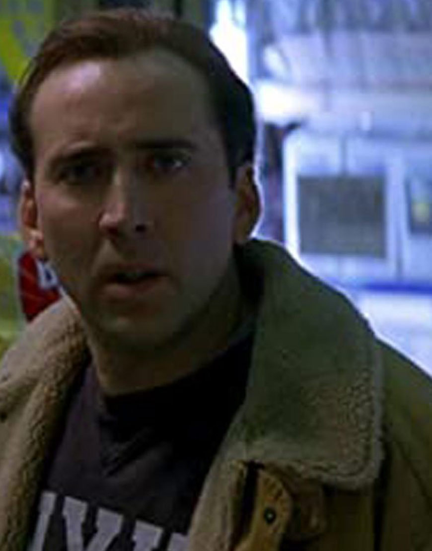 The Family Man Nicolas Cage Shearling Collar Brown Coat