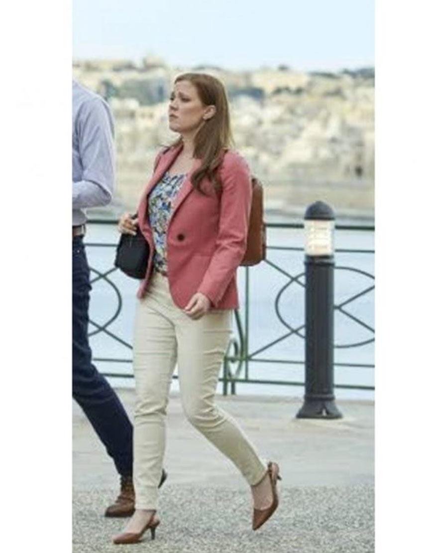 To Catch A Spy 2021 Patti Murin Pink Blazer