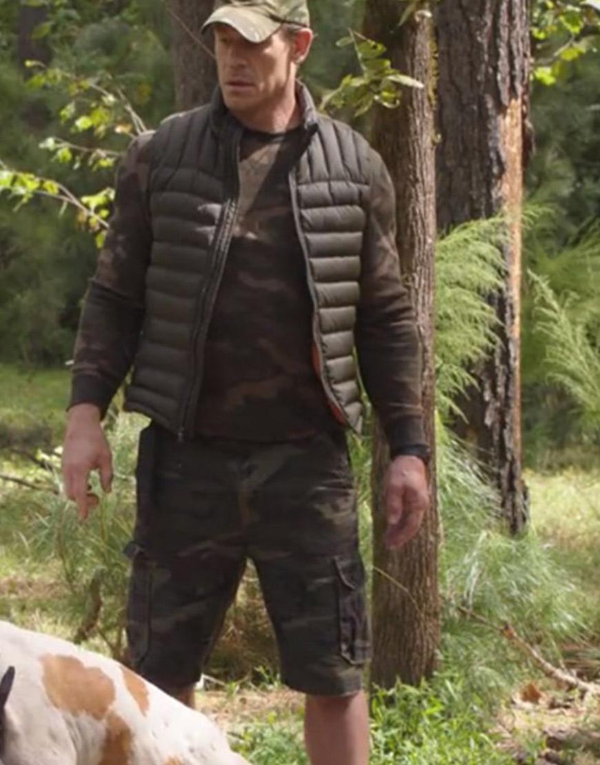 Vacation Friends 2021 John Cena Black Puffer Vest