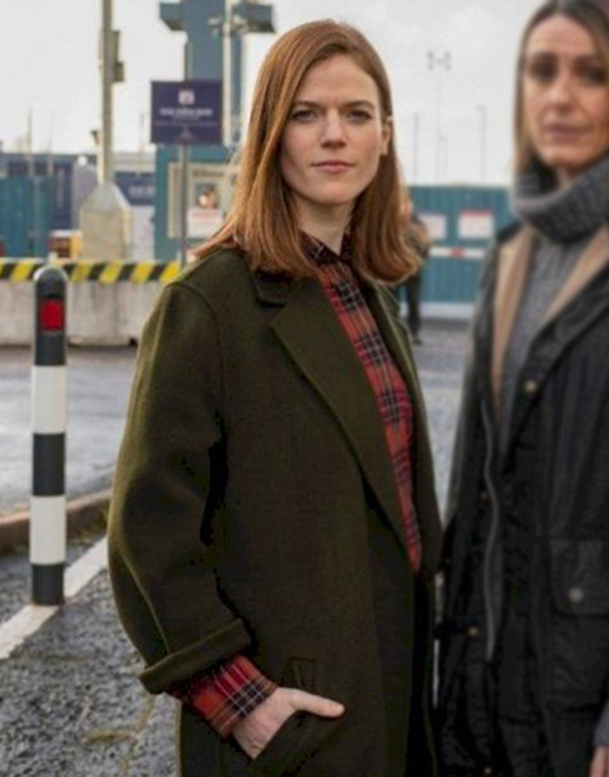 Vigil 2021 Rose Leslie Green Coat