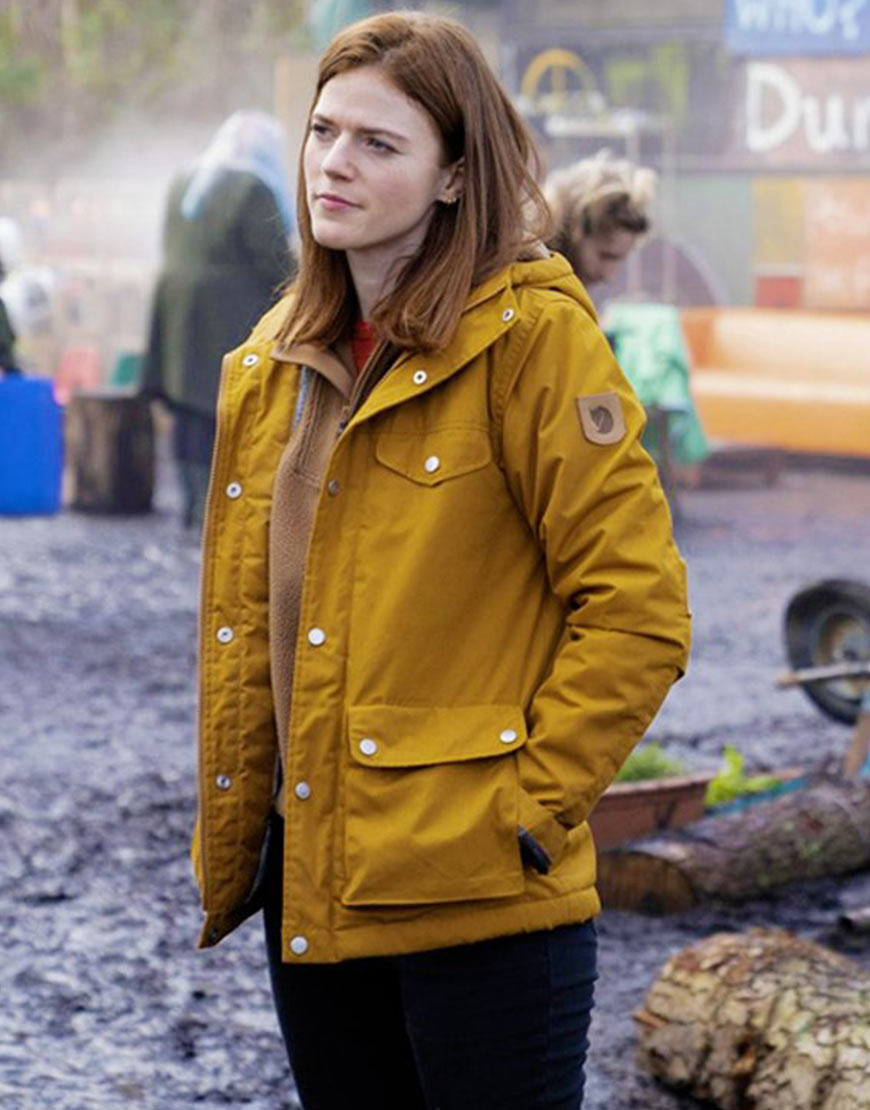 Vigil Rose Leslie Yellow Hooded Jacket