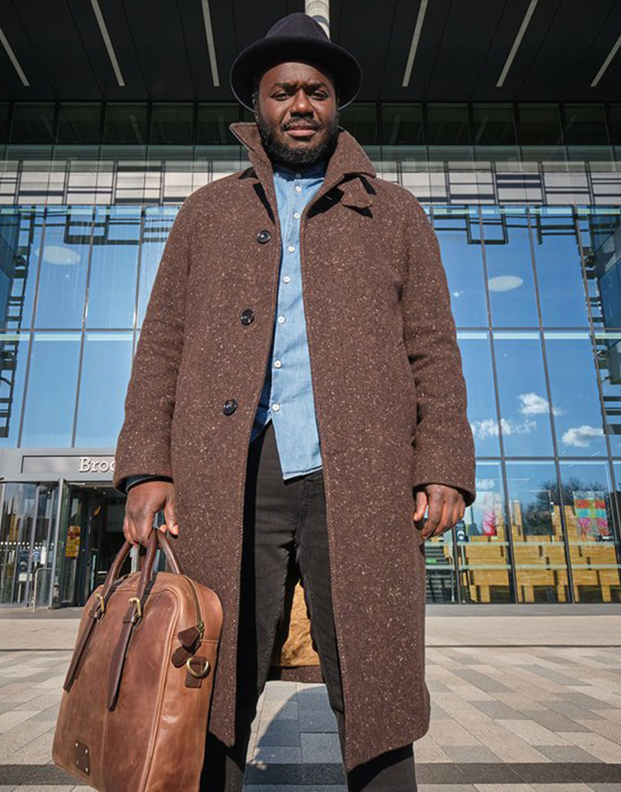 Wolfe 2021 Babou Ceesay Brown Trench Coat