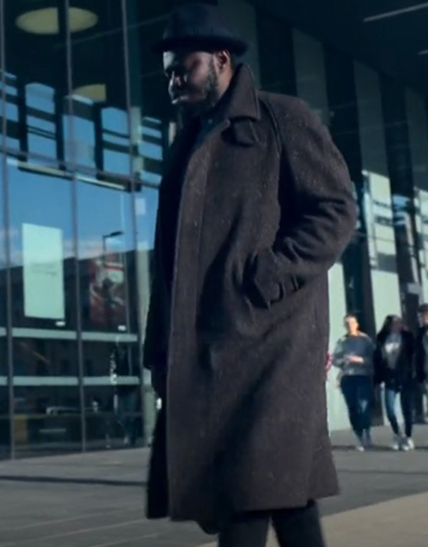Wolfe 2021 Babou Ceesay Brown Woolen Trench Coat