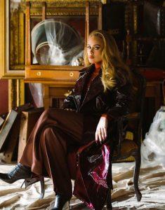 Adele Easy On Me Brown Coat