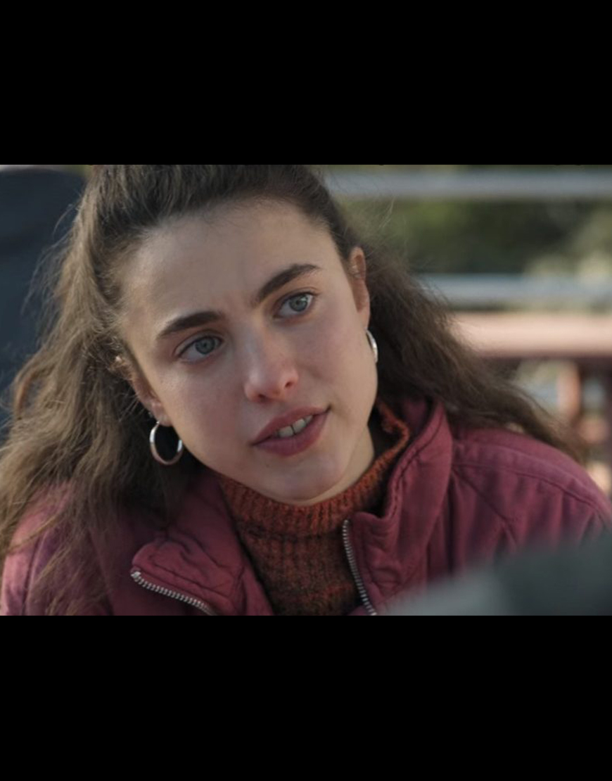 Alex TV-Series Maid 2021 Margaret Qualley Pink Quilted Jacket