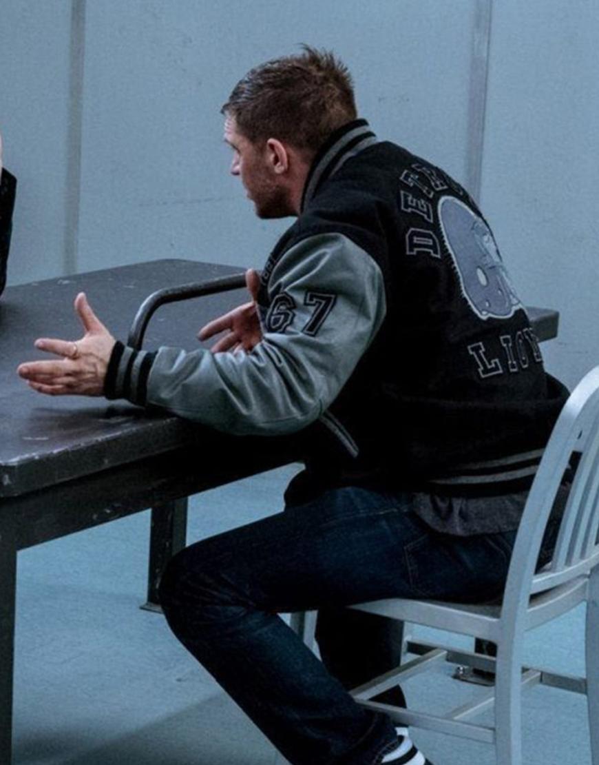 Eddie Brock Venom Let There Be Carnage Tom Hardy Detroit Lions Jacket