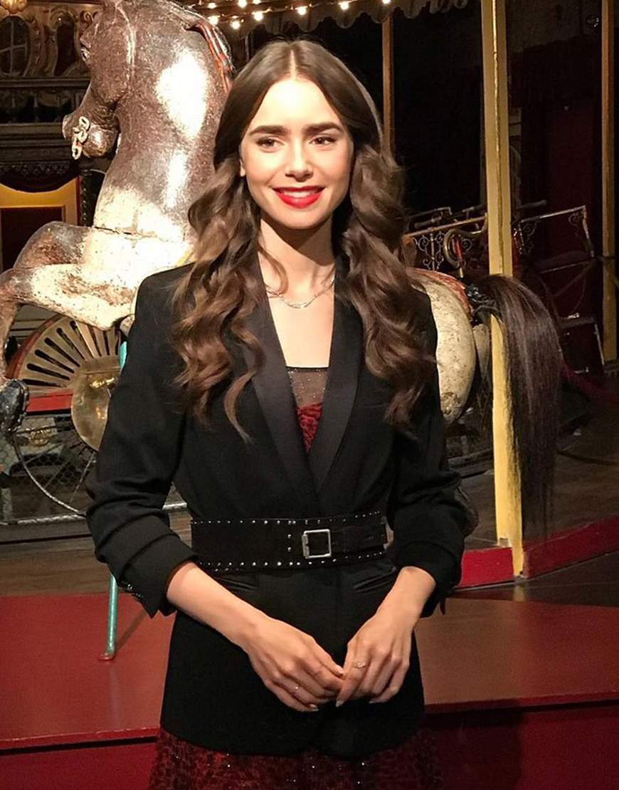 Emily In Paris S02 Lily Collins Black Blazer
