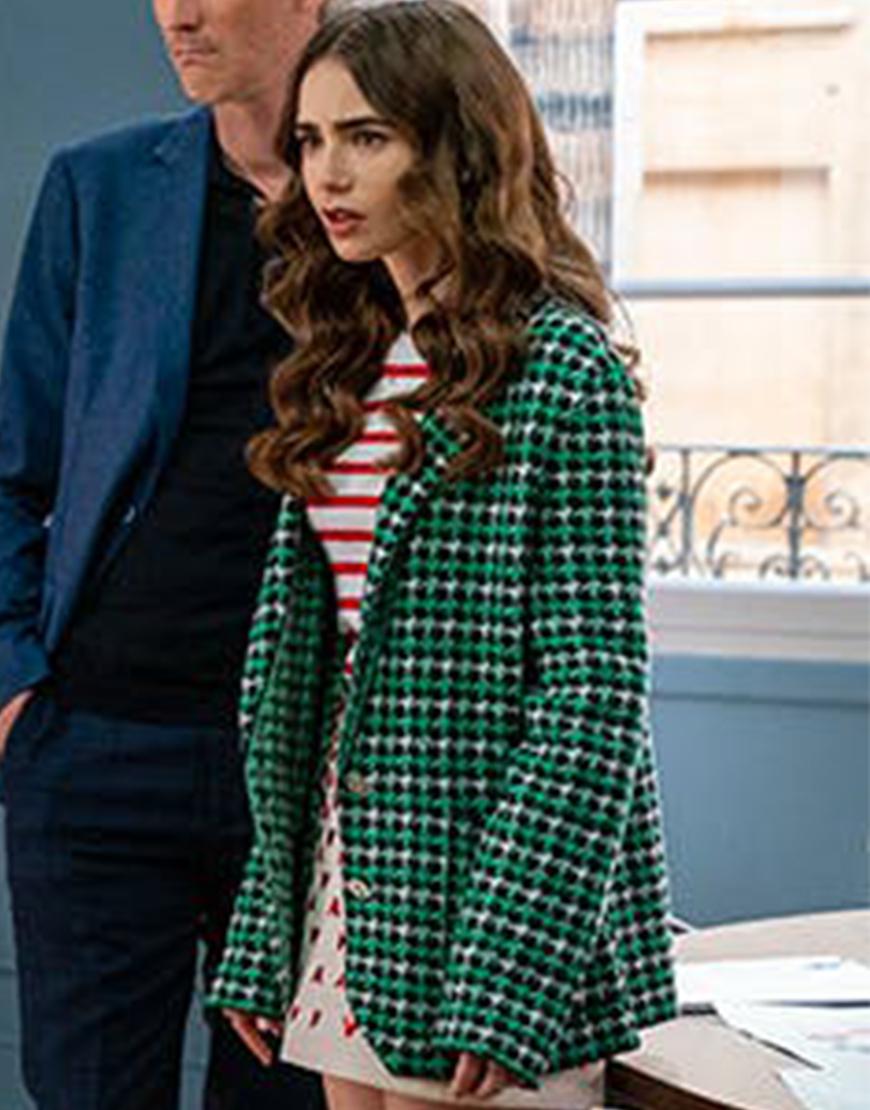 Emily In Paris S02 Lily Collins Green Blazer