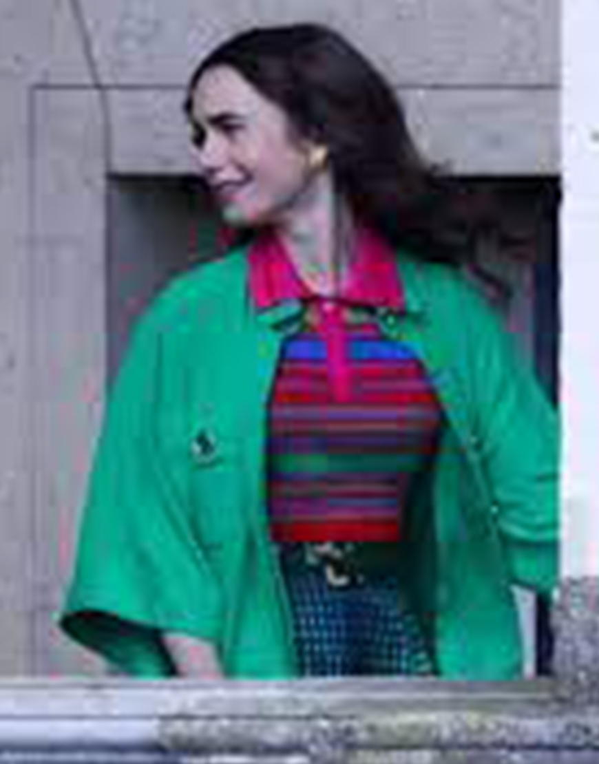 Emily In Paris S02 Lily Collins Green Coat