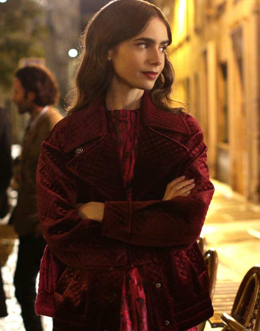 Emily In Paris S02 Lily Collins Velvet Jacket