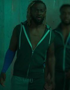 Escape the Undertaker Kofi Kingston Green Hooded Vest
