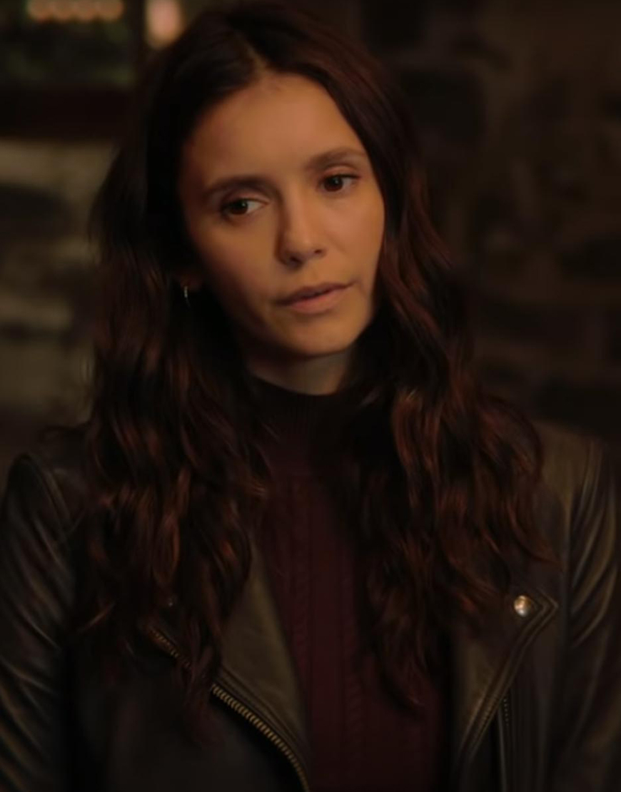 Love Hard 2021 Nina Dobrev Leather Jacket