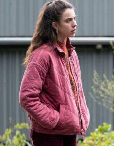 Maid 2021 Margaret Qualley Pink Jacket