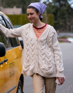 Maid 2021 Margaret Qualley White Sweater