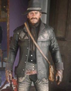 Red Dead Redemption II Nuevo Paraíso Gunslinger Leather Black Jacket