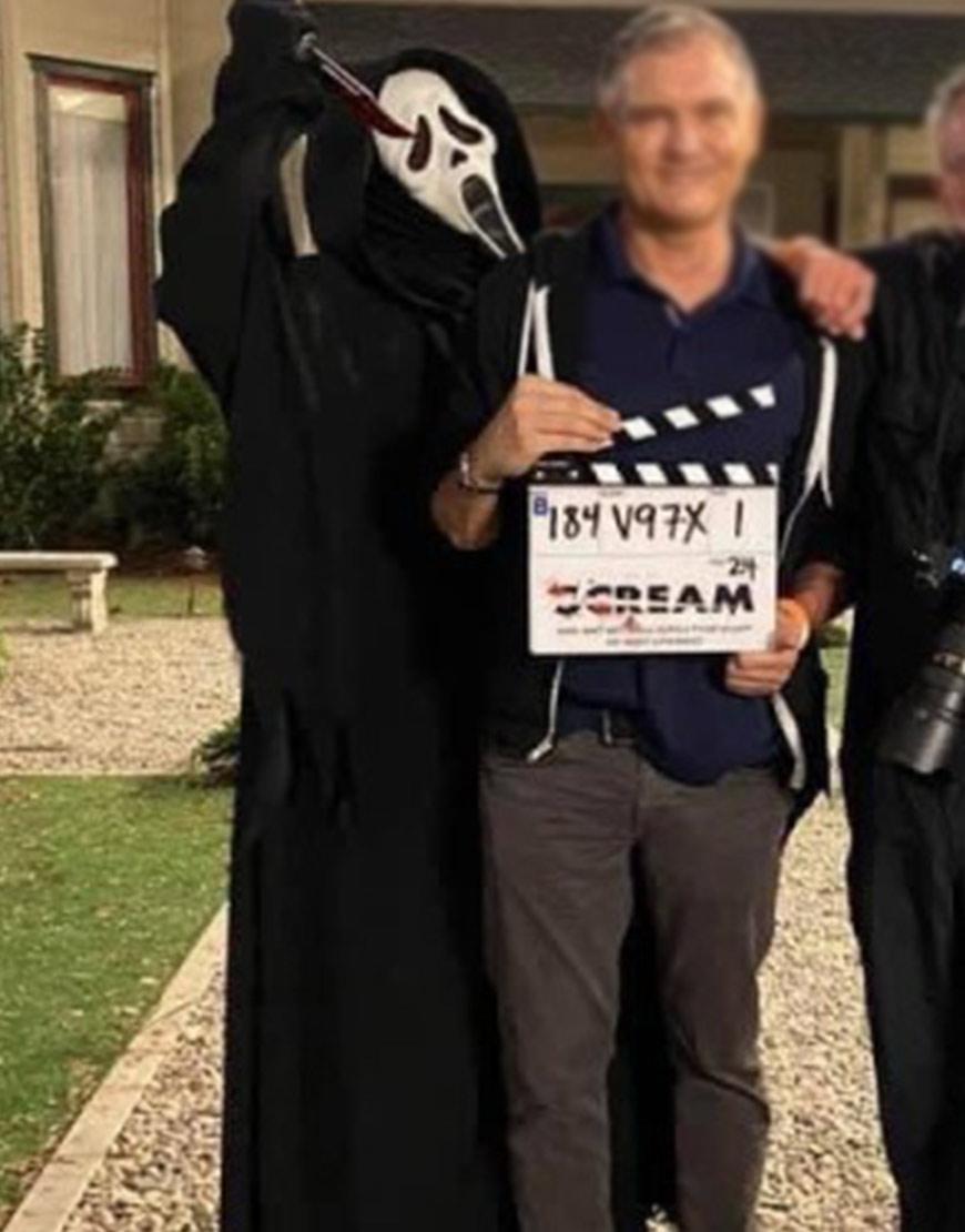 Scream 2022 Ghost Black Coat