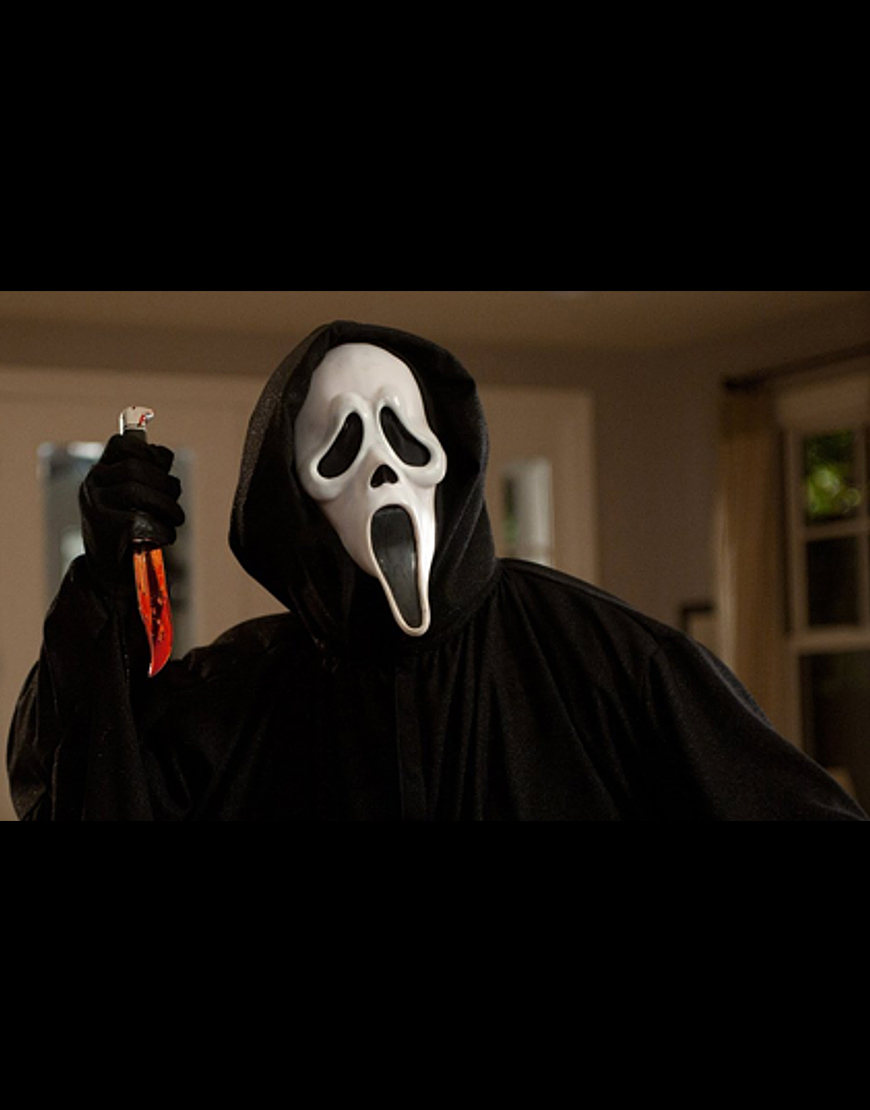 Scream 2022 Ghost Long Black Coat