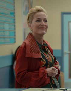 Sex Education S02 Gillian Anderson Brown Trench Coat