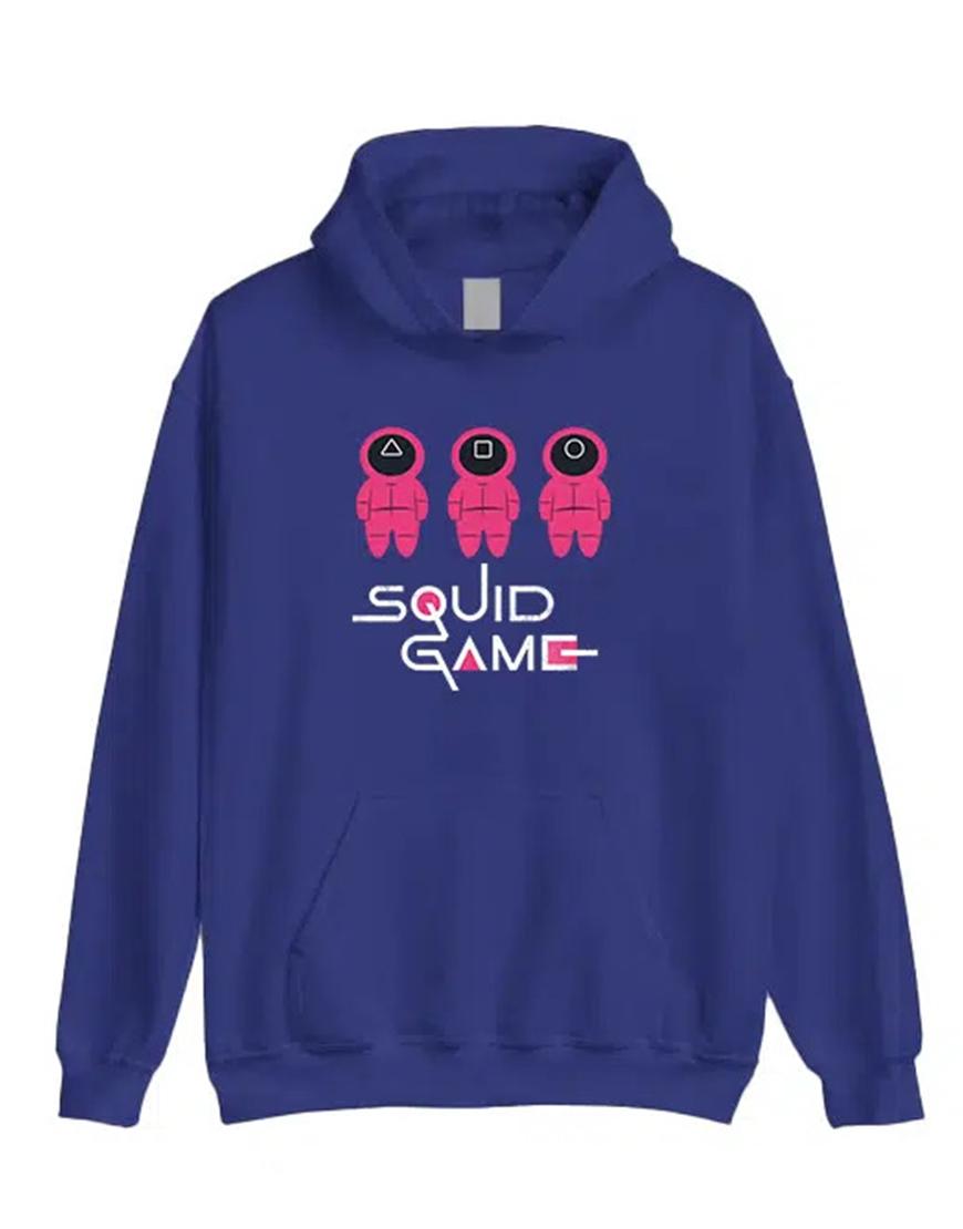 Squid Game 2021 Blue Hoodie Front