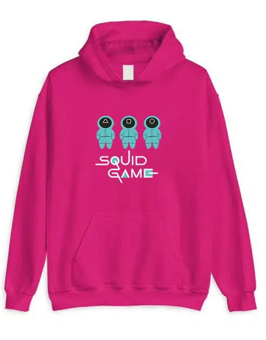 Squid Game 2021 Pink Hoodie Front