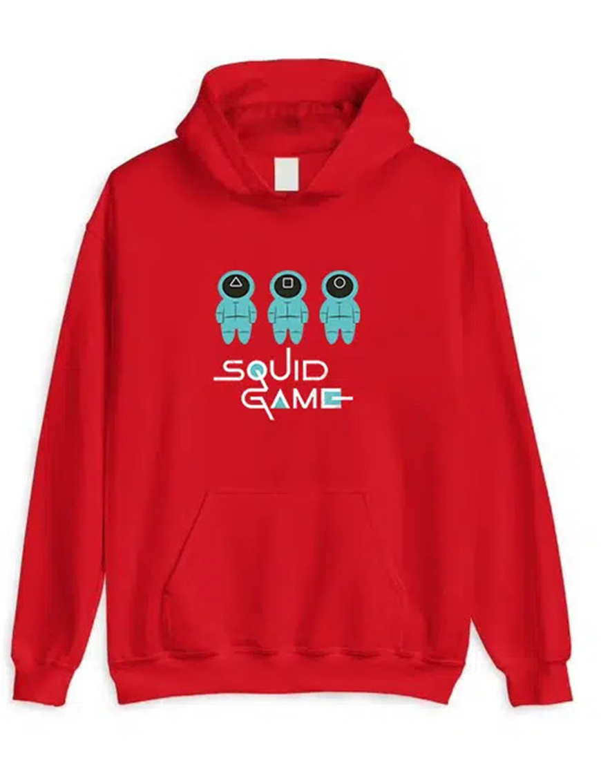 Squid Game 2021 Red Hoodie Front
