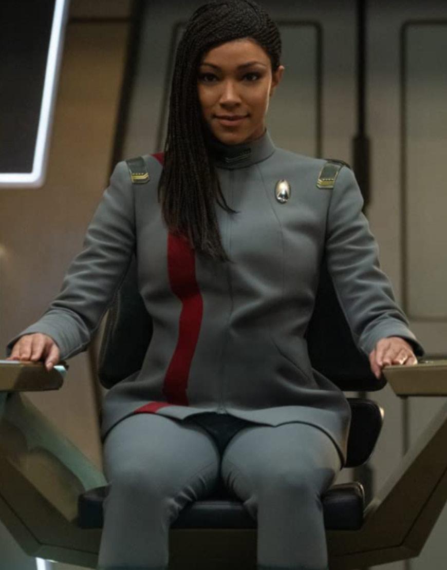Star Trek Discovery S04 Sonequa Martin-Green Grey Jacket