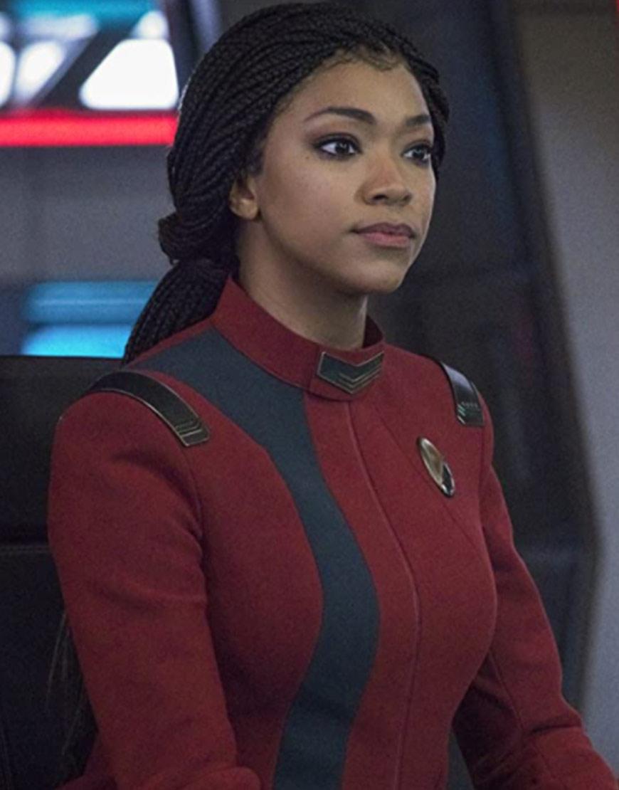 Star Trek Discovery S04 Sonequa Martin-Green Maroon Jacket
