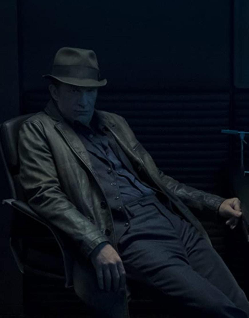 The Expanse S06 Thomas Jane Black Leather Coat