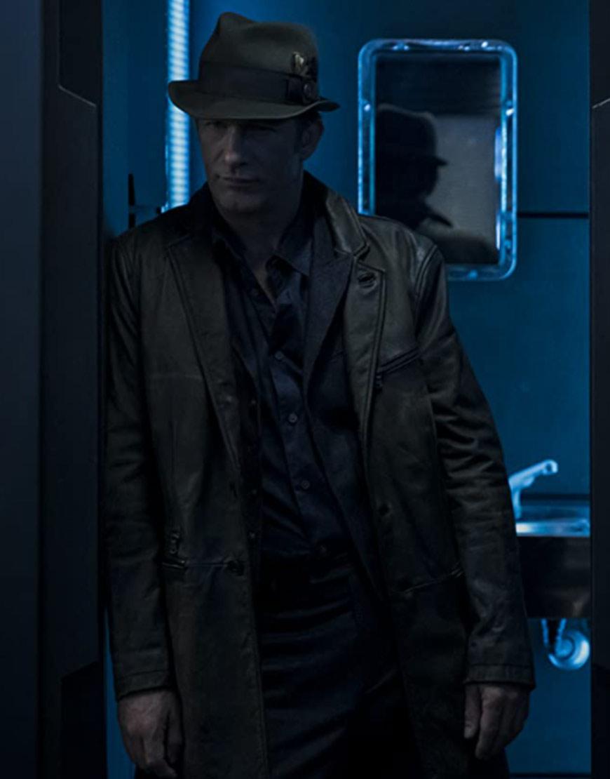The Expanse S06 Thomas Jane Leather Coat