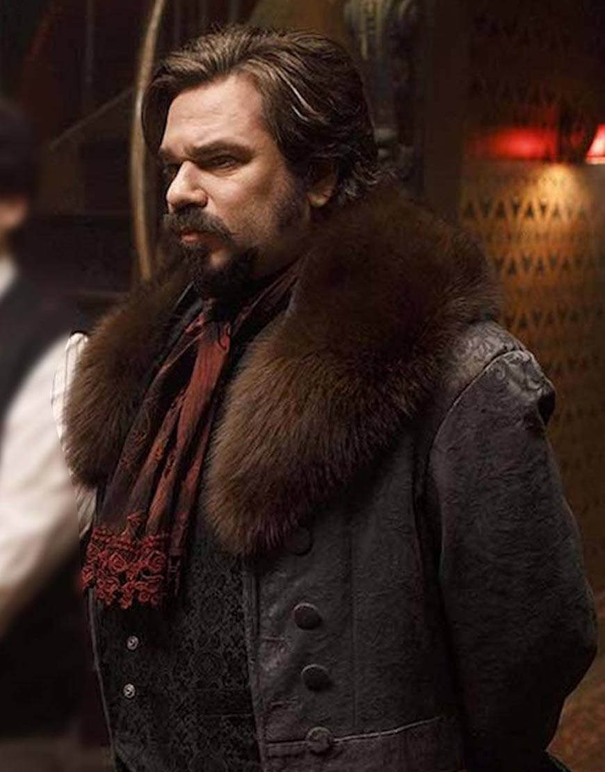 What We Do In The Shadows S03 Harvey Guillén Shearling Collar Coat