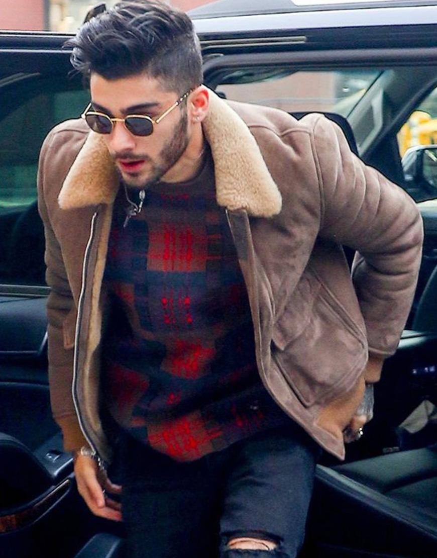 Zayn Malik Bomber Faux Fur Jacket