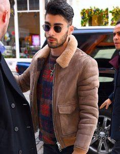 Zayn Malik Bomber Style Faux Fur Jacket
